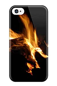 Best High Quality Fire Skin Case Cover Specially Designed For Iphone - 4/4s