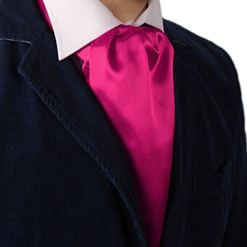 Dan Smith DRA7E01R Magenta Solid Microfiber Cravat Beautiful Goods Mens Ascot Infinity Presents Idea for Wedding
