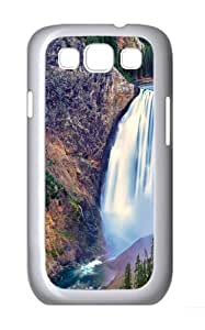 Lower Falls Yellowstone National Park PC Case Cover for Samsung Galaxy S3 and Samsung Galaxy I9300 White