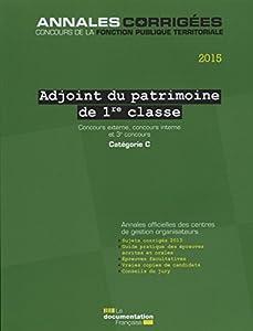 """Afficher """"Adjoint du patrimoine de 1re classe"""""""