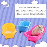 MUMAX Hamster Bathtub, Plastic Bathroom Container