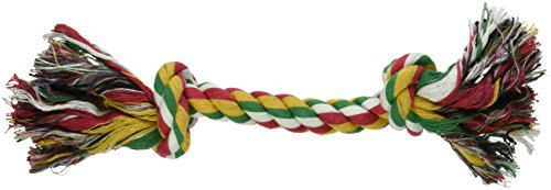 Multi Color Rope Toys (Dog Life 2-Knot Rope Dog Toy, Multi-Color - Large, 13-1/2 Inch)