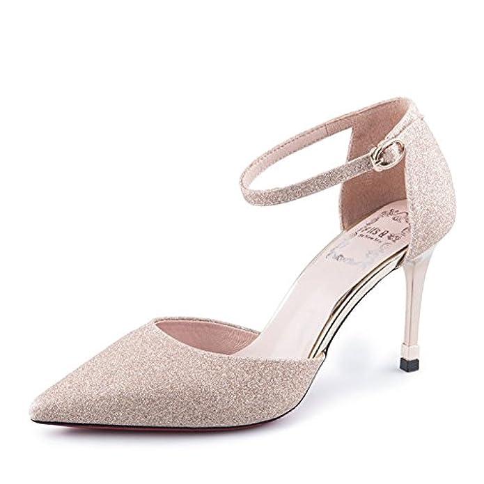 Autunno puntato calzature Donna tacchi Sottili asakuchi scarpe Nude