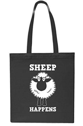 Gym Black Tote 10 Black Small Shopping x38cm 42cm Happens Sheep litrest Beach Bag qAHBt4n6