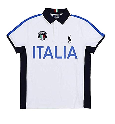 - Polo Ralph Lauren Mens Custom Slim Fit Country Polo Shirt (Small, White Italia)