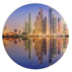 alfombrilla de ratón El panorama belleza de Dubai Marina. EAU - ronda - 20cm