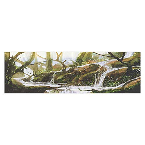 Auraise Heybee Decorative Aquarium Cascade Stream Flows into Creek in Real Like SecrParadise Paint Pictures PVC Decoration Paper Cling Decals Sticker 23.6