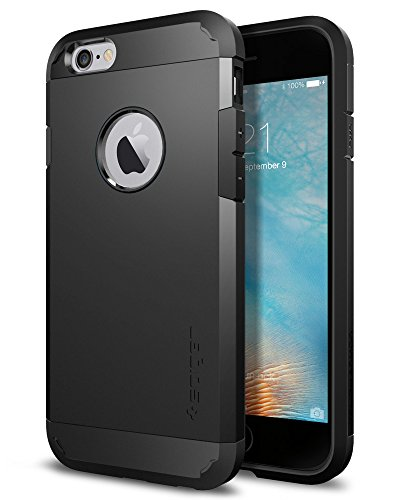 Spigen Tough Armor Designed for Apple iPhone 6S Case (2015) - Black (Black Iphone 6 Case)