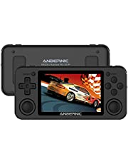 """Retro Game Console Anbernic RG351P 64 GB with 2500 Games, Spelcomputer Console Stand-by PSP, NDS, DC, RK3326 Quad core 1.5GHz, Handheld Game Console 3.5""""IPS, 3500 mAh(zwart)"""