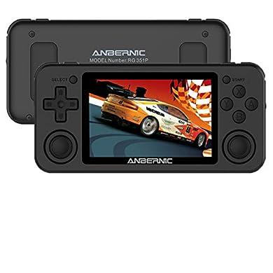 "Anbernic RG351P Consola Retro Portatil 3.5""IPS,Buena Retro Game Console 64GB soporta PSP,NDS,DC,RK3326 Chip 1.5GHz,Open Source Linux System Consola de videojuegos retro con 2500 juegos(black) a buen precio"