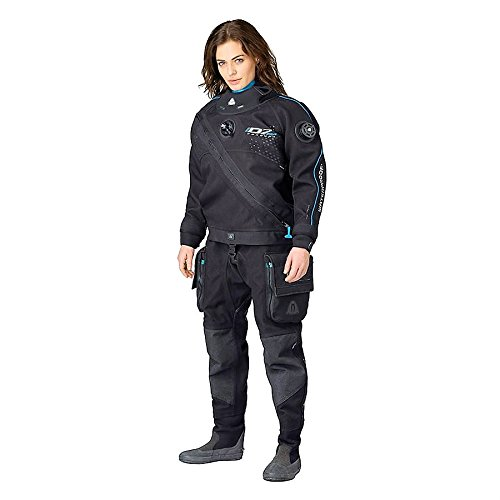 New Women's Tusa WaterProof D7 PRO Front Zip Trilam Drysuit with Integrated Silicone Seals & Quick Cuff System (Size Medium-Large) by Waterproof