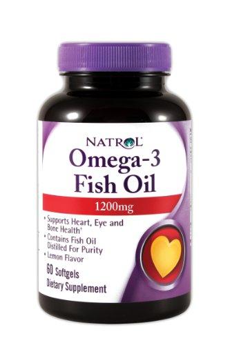 Natrol Omega-3 Huile de poisson 1200 mg, 60 Soft-gels