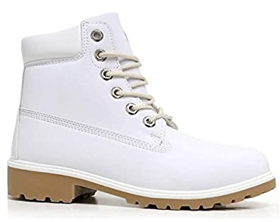 15e65e2707a7a Other Womens Ladies Lace UP Ankle Boots Casual Rubber Grip Sole Combat Boot  Shoes Size  Amazon.co.uk  Shoes   Bags