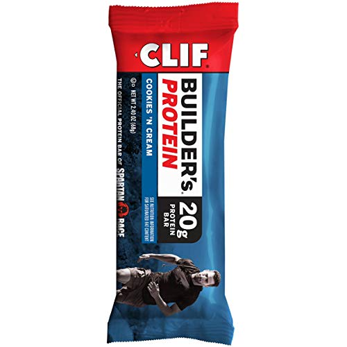 CLIF BUILDER'S - Protein Bar - Cookies and Cream - (2.4 Ounce Non-GMO Bar, 12 Count)