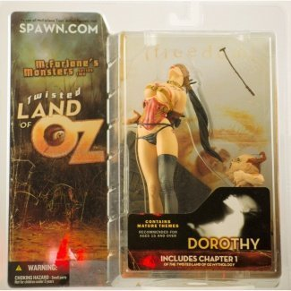 Variant Mcfarlane Toys - Twisted Land of Oz Dorothy McFarlane Monsters Series 2 Variant Chase Alternate Action Figure With Thong Includes Chapter 1 Twisted Land of Oz Mythology