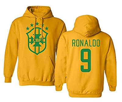 Tcamp Soccer Legends #9 Ronaldo Jersey Style Men's Hooded Sweatshirt