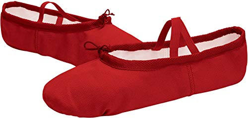 RUN Canvas Shipper Yoga Ballet L Red Shoe Dance Girls' Shoes Ballet Women's dOqdBfwxF
