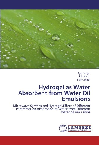 Hydrogel as Water Absorbent from Water Oil Emulsions: Microwave Synthesized Hydrogel,Effect of Different Parameter on Absorption of Water from Different water oil emulsions