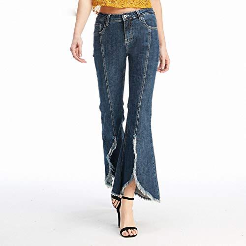 Pantaloni Grandi Jeans Vita Gamba Nuovi Jeans Xl Fondo L Blu A D'elefante Divisa Zampa Mvguihzpo Extra Donna Campana Cowboy twFqvd88