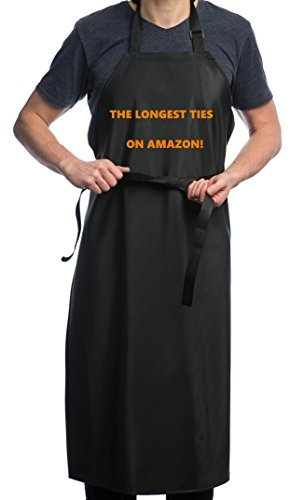 Waterproof Rubber Vinyl Apron - Upgraded 2018 Heavy Duty Model - Best for Staying Dry When Dishwashing, Lab Work, Butcher, Dog Grooming, Cleaning Fish, Projects - Industrial Chemical Resistant Plastic by Aulett Home (Image #7)
