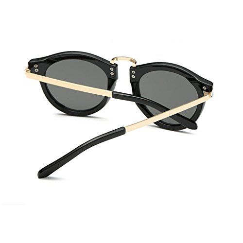 Sol de Beach A Fashio Mujer para Youarebb Gafas Sunglasses Round wq56qE