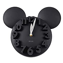 GCA Modern Design Big Digit 3D Wall Clock Home Decor Decoration (Black)