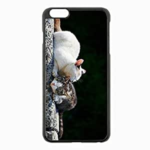 iPhone 6 Plus Black Hardshell Case 5.5inch - couple caring playful Desin Images Protector Back Cover by ruishername
