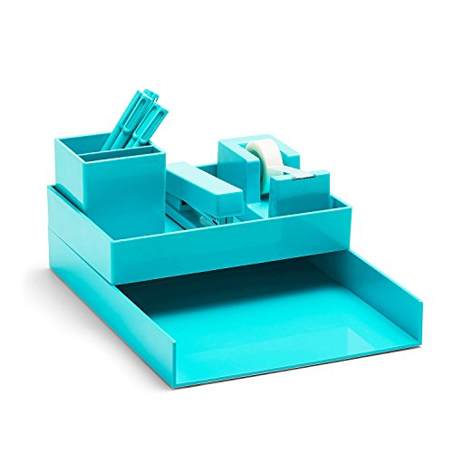 Poppin All Set Desk Collection Set Aqua