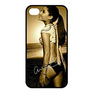 Ariana Grande Printing iphone 4s Cases,Hard Silicone+PC Material, Case for iPhone 4 4s,Rubber Case Cover