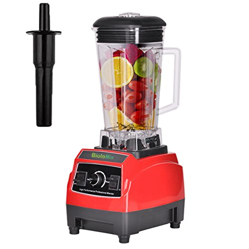 Kitchen Blender Food Processor,High Speed Blender 43,000RPM,2200W,Commercial Blender Mixer For Protein Shakes, Frozen Fruit Drinks (Red) Review