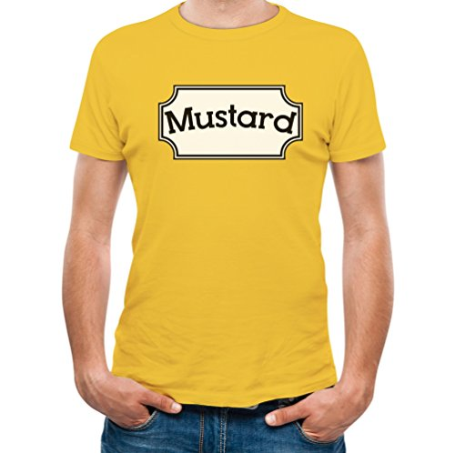 [Mustard - Funny Matching Couples Gift Men's T-shirt Small Yellow] (Couple Dress Up Ideas)