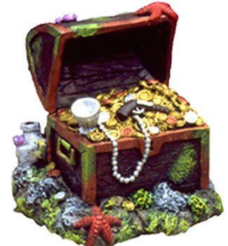 - Captain Kidd Treasure Aquarium Ornament, Small