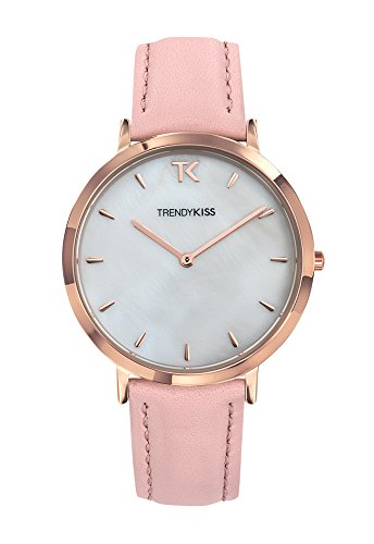 Trendy Kiss Quartz Watch with Leather Strap