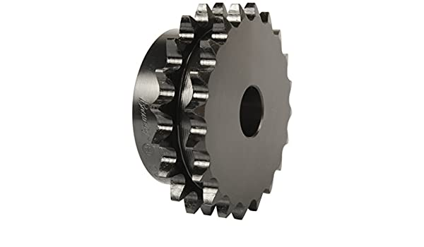 5//8 Stocked Bore Hardened Steel 20 Teeth 5//8 Stocked Bore Regal 2 Strands Browning D40B20 Minimum Bore Double Roller Chain Sprocket