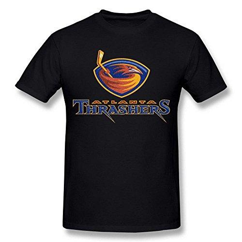 Men's NHL Atlanta Thrashers Hockey Logo Black Tshirts