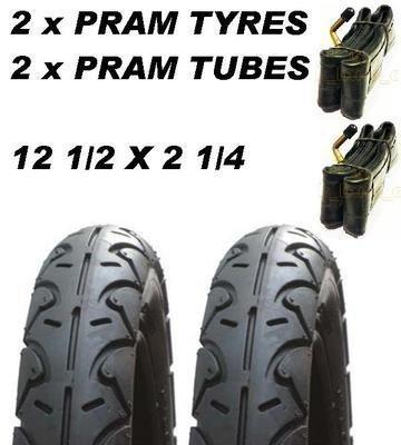 2 x Pram Tyres & 2x Tubes 12 1/2 X 2 1/4 Mothercare Xtreme MY3 MY4 Urban Detour ASC