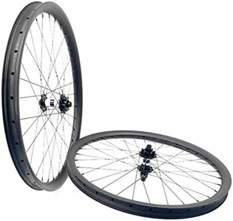 NO BRAND 29er carbón MTB Ruedas 110x15 148x12 6-Pernos de la Bicicleta MTB Ruedas 35x25mm 1.420 radios Bicicletas de montaña Ruedas (Color : 12K Glossy XD): Amazon.es: Hogar