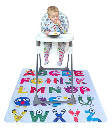 """Baby Splat Mat for Under High Chair/Arts/Crafts by R&O Baby Waterproof/Washable Anti Slip Floor Splash Mat 
