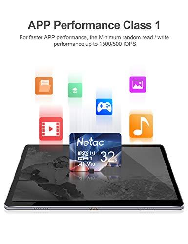 Netac Micro SD Card 32GB 3 Pack, MicroSDHC Card 32GB Memory Card - UHS-I, 90MB/s, 600X, U1, C10, V10, A1, FAT32 TF Card Micro SD Card
