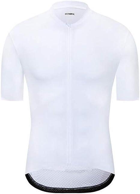 Hombres Jersey de Ciclo 2019 Camisa de MTB Ciclismo Maillot Bicicleta de Descenso Jersey Tricota Ropa de la Bicicleta de montaña,Blanco,L: Amazon.es: Deportes y aire libre
