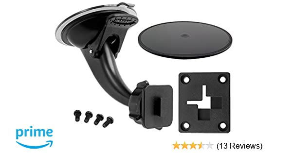 Suction Cup Car Window Mount for GPS Devices with 4 Hole AMPS Pattern NEW OEM