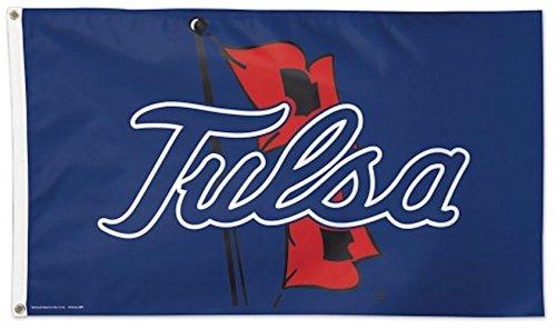 (WinCraft NCAA University of Tulsa Deluxe Flag, 3' x 5')