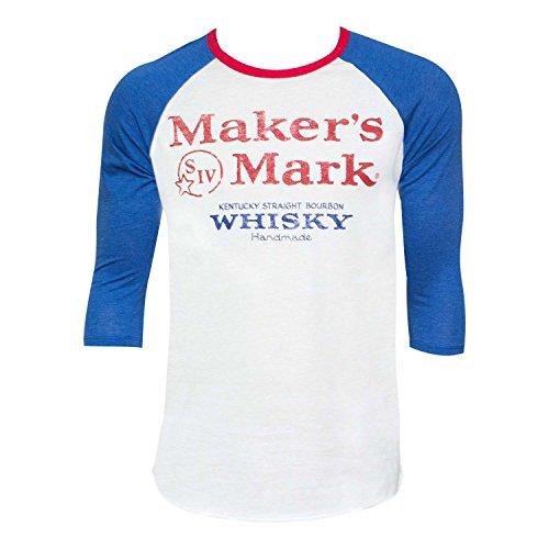 Men/'s Maker/'s Mark Navy Wax Seal T-Shirt Blue