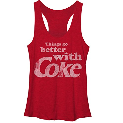 Coca Cola Women's Things Go Better with Coke Red Heather Racerback Tank Top