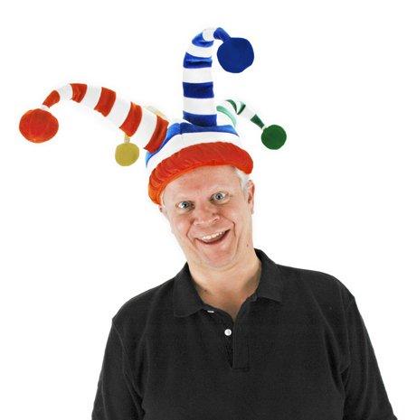 Clown Top Hat (elope Wacky Jester Hat, Multi, One Size)