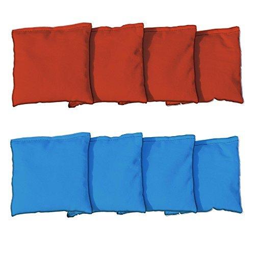 Standard Orange & Royal Blue Replacement Cornhole Bag Set (corn-filled) - 8 Replacement Bean Bags
