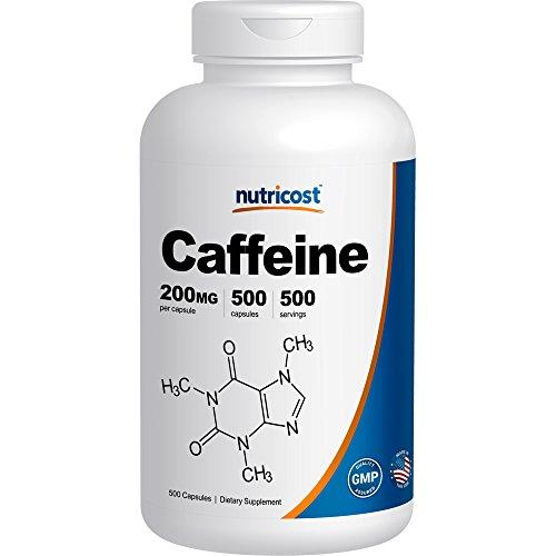 Nutricost Caffeine 500 Capsules; 200mg Per Capsule