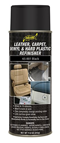 SM Arnold (65-801) Leather, Carpet, Vinyl & Hard Plastic Refinisher, Black - 11 oz.