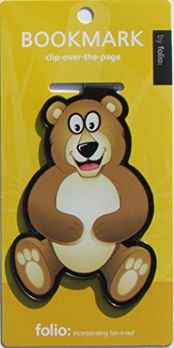 (Teddy Bear Bookmarks (Clip-over-the-page) Set of 2 - Assorted colors )