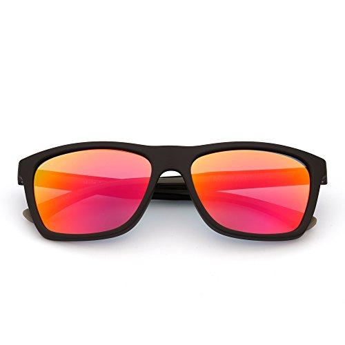 e05b3130b0 Chic Gafas de Sol de Espejo Retro Lentes Cuadrados Reflexivo Templo de Goma  Hombre Mujer